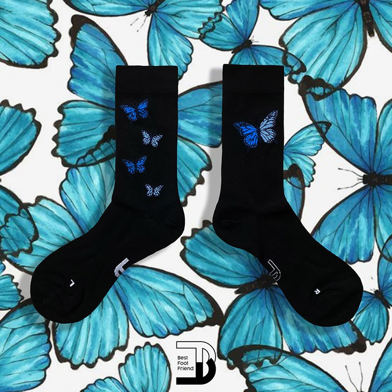 BEST FOOT FRIEND - BF200030-BK BUTTER FIVE 中筒襪 小腿襪 (黑色) 化學原宿