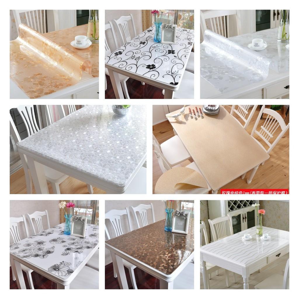 ?爆款熱賣 PVC餐桌布 防水防油防燙免洗軟塑料玻璃臺布 桌墊茶幾墊 磨砂水晶板
