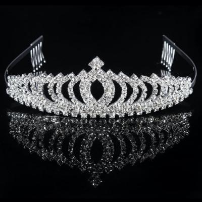 【89 zone】法式古典公主皇冠髮飾/髮箍 1 入 (銀色)
