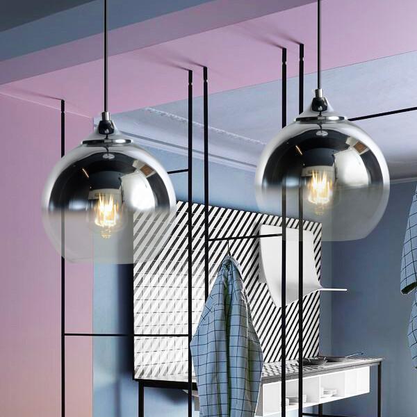 18park-漸染吊燈-3色-25cm(銀)-含燈泡組合(4w*1)