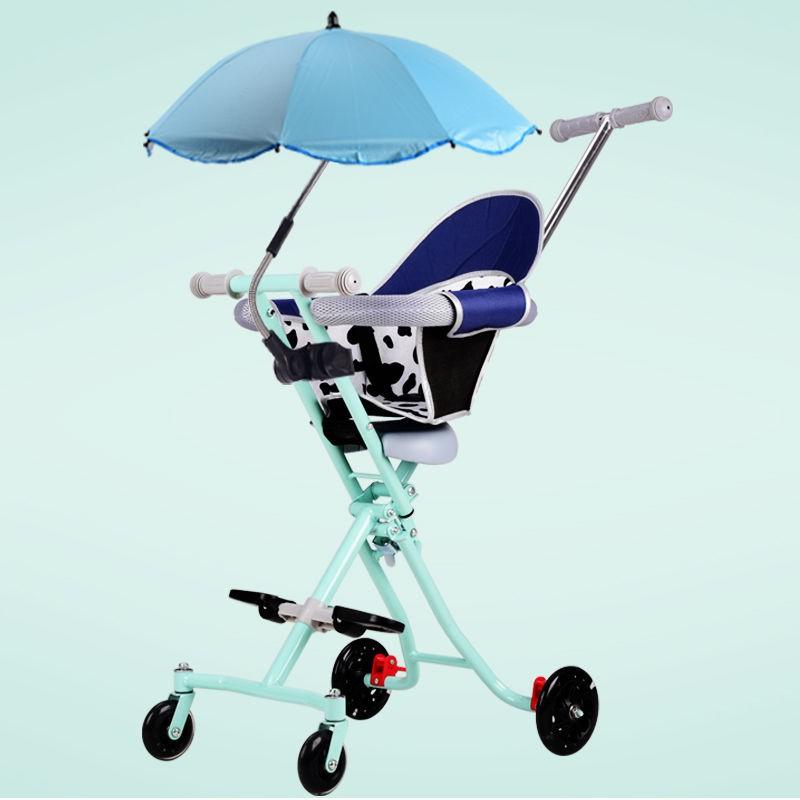【熱賣爆款兒童推車現貨】遛溜娃神器嬰兒童手推車輕便攜帶娃出門迷你一鍵折疊四輪車1-6歲