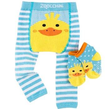美國 ZOOCCHiNi 彈性包屁褲+襪(鴨子)(6-12m/12-18m)