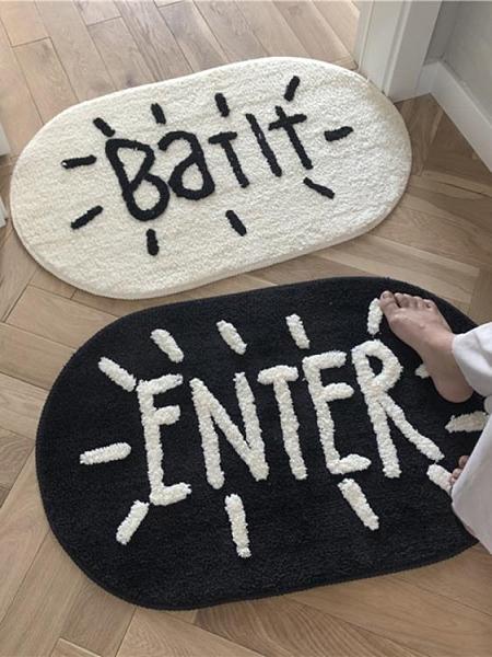地墊 北歐風吸水地墊防滑地毯黑白簡約門墊子客廳臥室床邊毯ins風腳墊【快速出貨八折搶購】