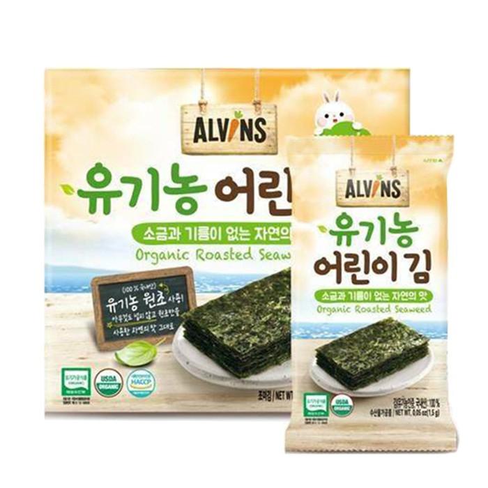 韓國 愛彬思 ALVINSL 烘烤寶寶海苔 10包入 幼兒烘烤海苔 拌飯料 7076 兒童海苔 副食品