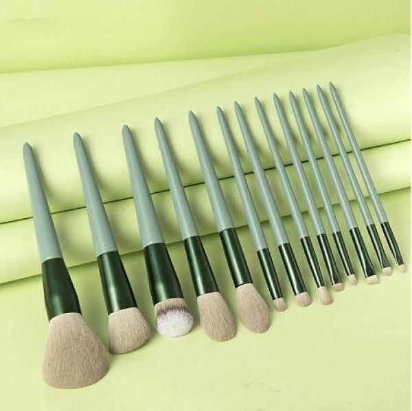 化妆刷 13支化妝刷 套裝腮紅散粉高光刷粉底刷美妝全套工具【快速出貨八折搶購】