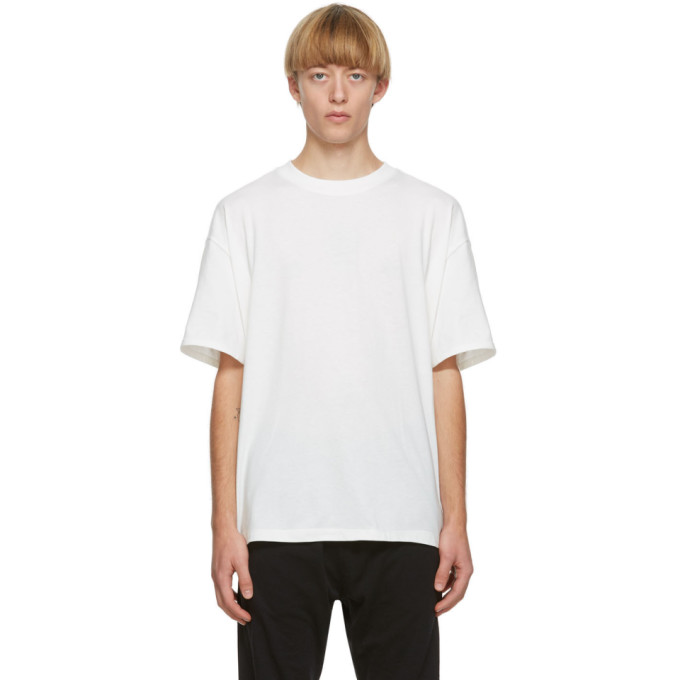 Essentials 三件装白色平纹针织 T 恤