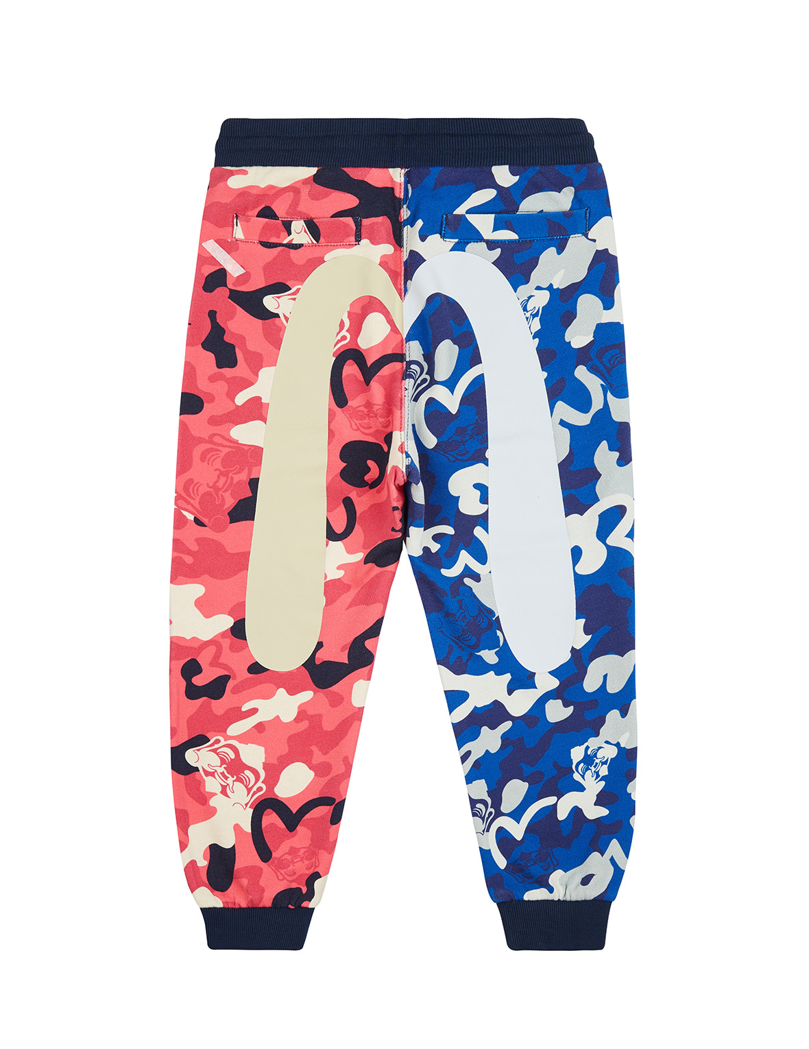 Color Blocking Allover Camouflage Print Sweatpants