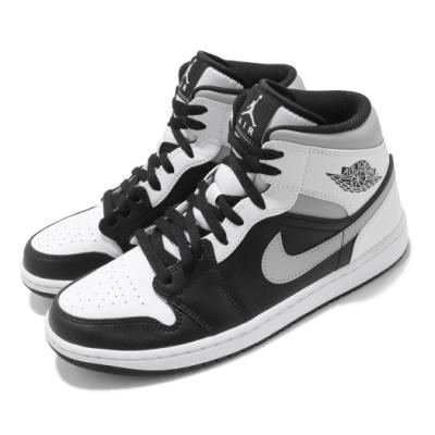 Nike 休閒鞋 Air Jordan 1 Mid 運動 男鞋 經典款 AJ1 皮革 簡約 球鞋 穿搭 黑 白 554724073