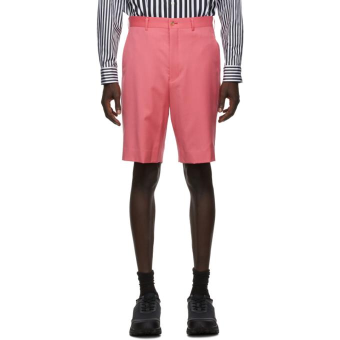 Comme des Garcons Homme Plus 粉色羊毛华达呢短裤