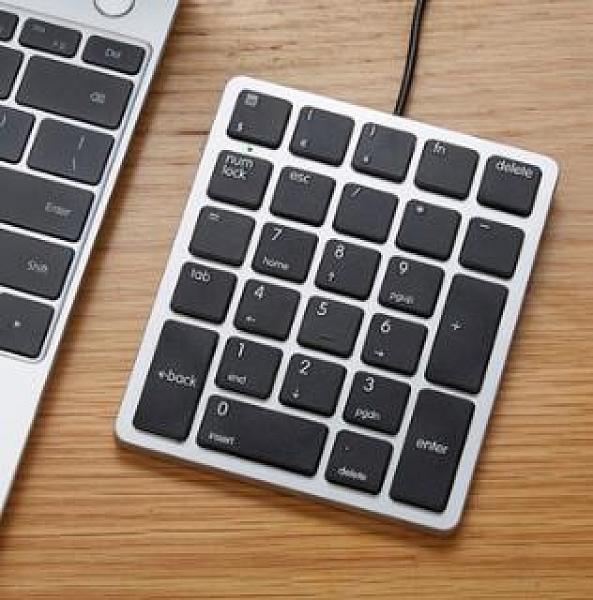 數字鍵盤 電腦外接數字小鍵盤財務會計專用無線外置剪刀腳蘋果便攜【快速出貨好康八折】