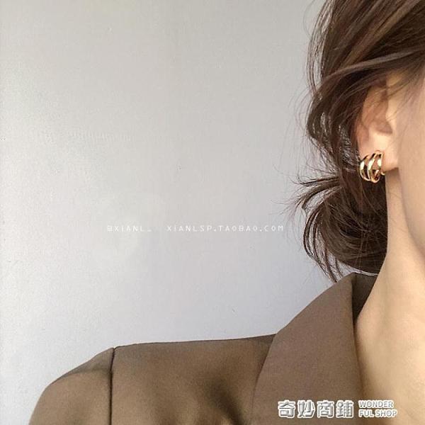 韓國復古氣質耳釘年新款潮網紅簡約冷淡風耳環女高級感耳飾品 奇妙商鋪