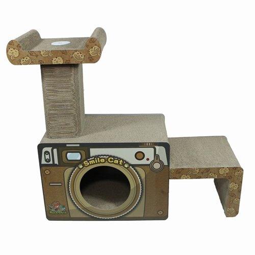 ROCK CATS 時尚相機跳台 RC-166 造型貓抓板 耐抓材質 不容易掉紙屑