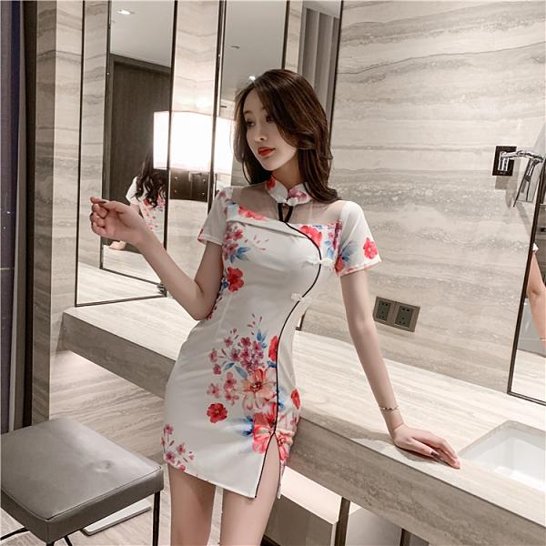 旗袍 法式復古改良旗袍年輕款少女中國風印花氣質時尚性感緊身連衣裙秋【快速出貨八折搶購】