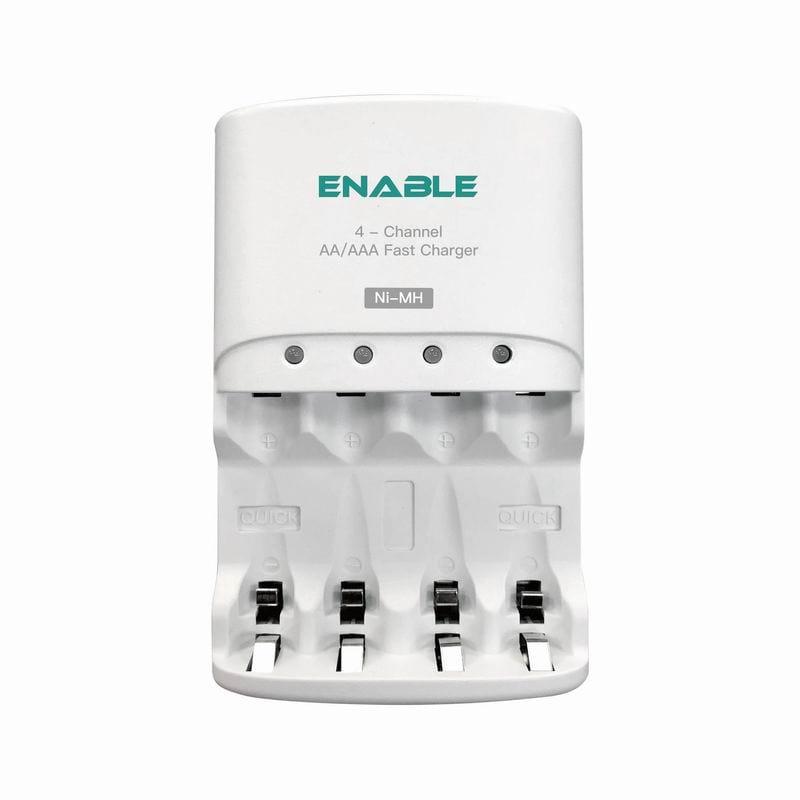 【充電組合】EC-874 冷快充四迴路AA/AAA充電器+4入3號低自放電電池
