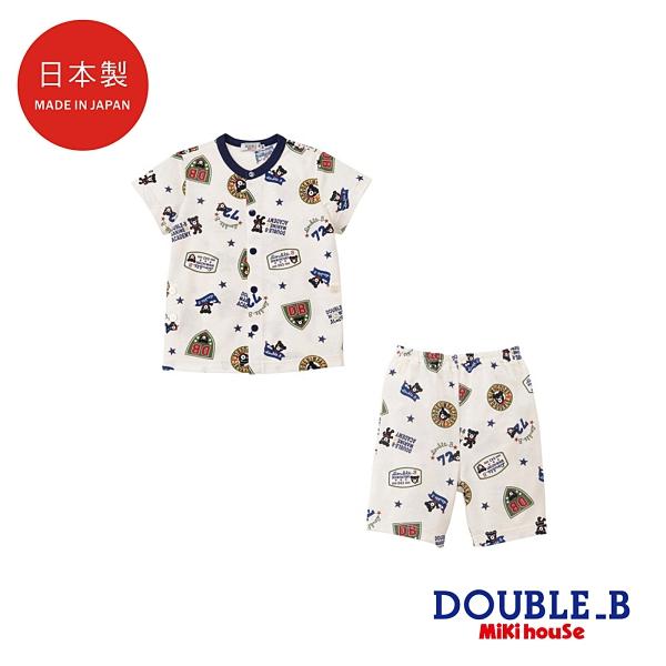 DOUBLE_B 日本製 黑熊短袖睡衣家居服