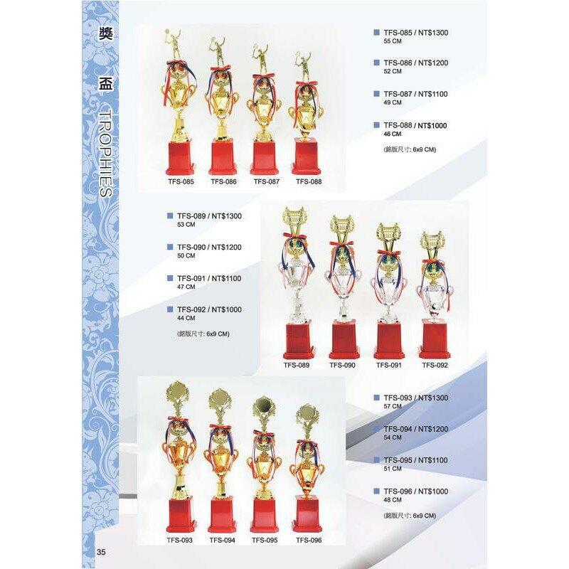 [大自在體育用品]   獎盃 獎牌 客製化 訂製各式比賽獎盃皆可承製喔 TFS-093 ~ TFS-096