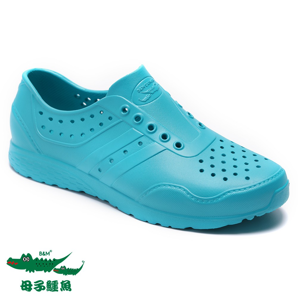 【母子鱷魚】超輕量多色洞洞男女童鞋款-藍綠