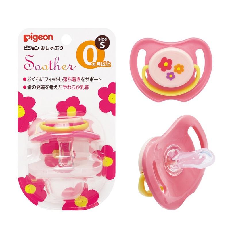 Pigeon貝親-安撫奶嘴S(小花/汽車)