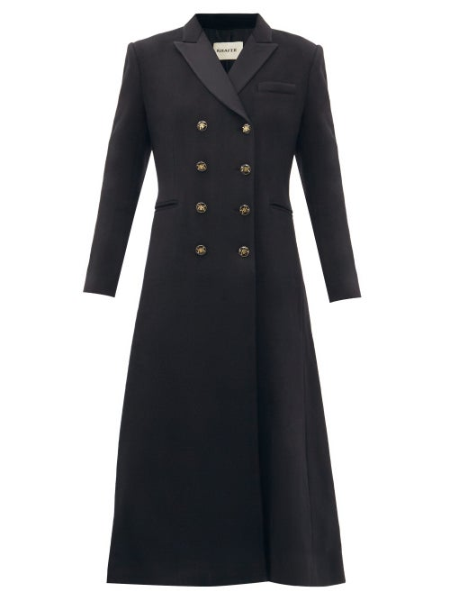 Khaite - Marge Double-breasted Recycled-cashmere Coat - Womens - Black