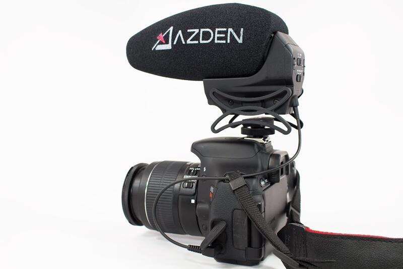 【中壢NOVA-水世界】AZDEN SMX-30 麥克風 可切換 單聲 立體 三顆獨立錄音頭 避震降噪支架 公司貨