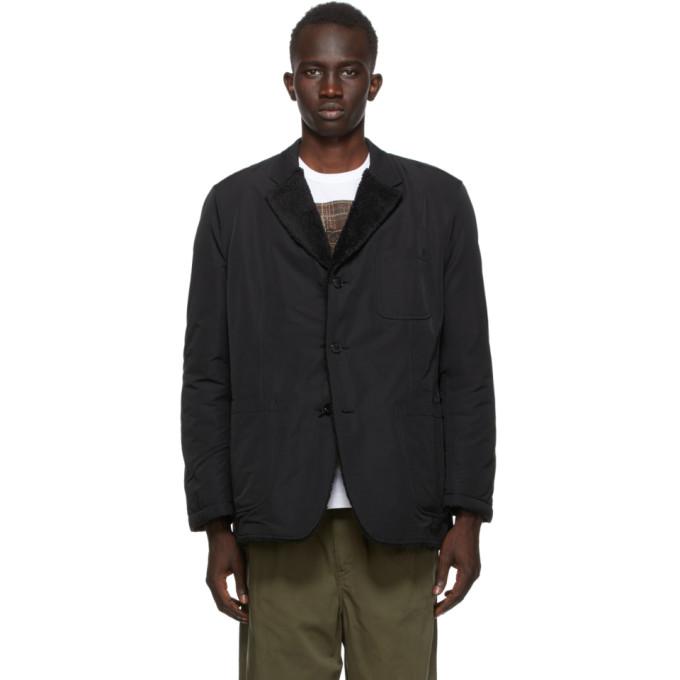 Comme des Garcons Homme 黑色 Tussah 双面西装外套