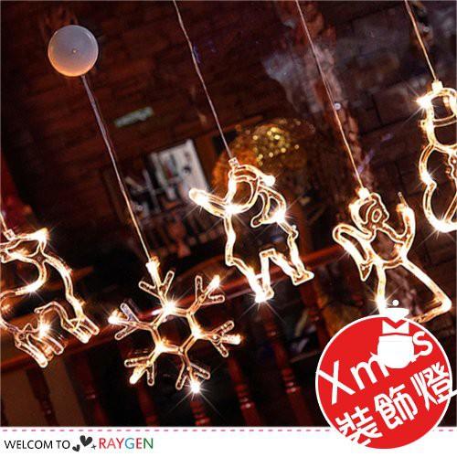 聖誕系列造型LED燈 吸盤燈 雪人聖誕節裝飾燈 櫥窗掛件