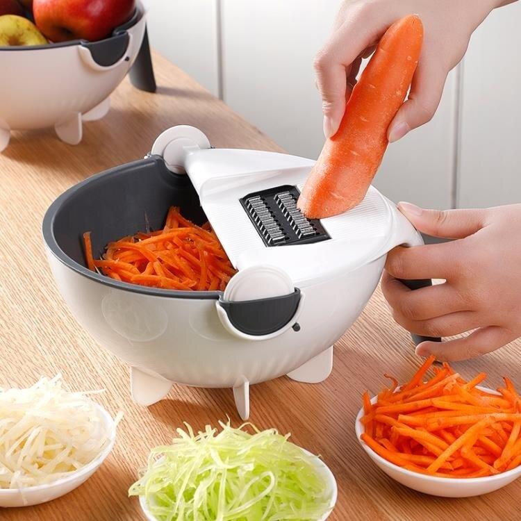 多功能切菜器家用廚房神器手動帶瀝水籃切土豆切片擦絲蘿卜刨絲器