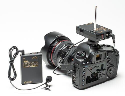 【中壢NOVA-水世界】AZDEN WLX-PRO Plus VHF無線電 領夾式 麥克風 套組 相機/手機通用 公司貨