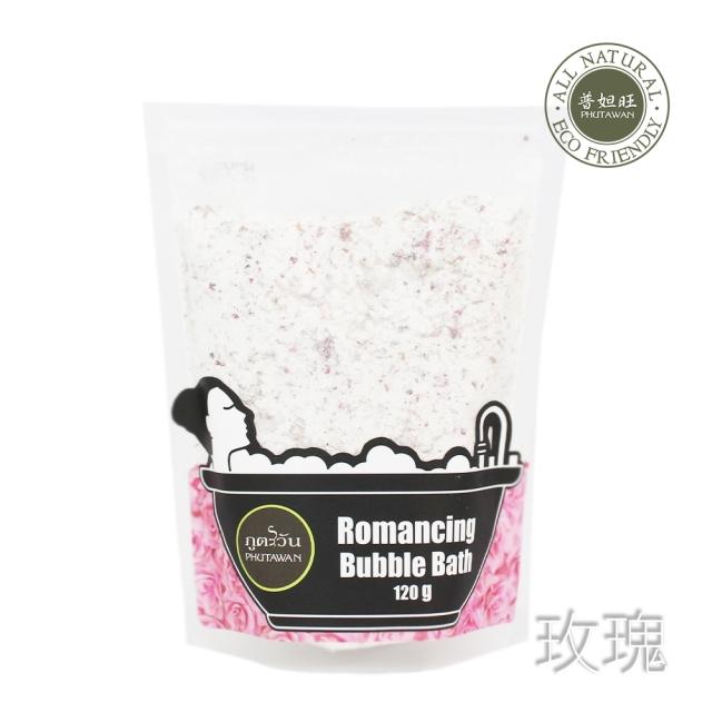 【PHUTAWAN】普妲旺草本泡泡浴粉-玫瑰120g