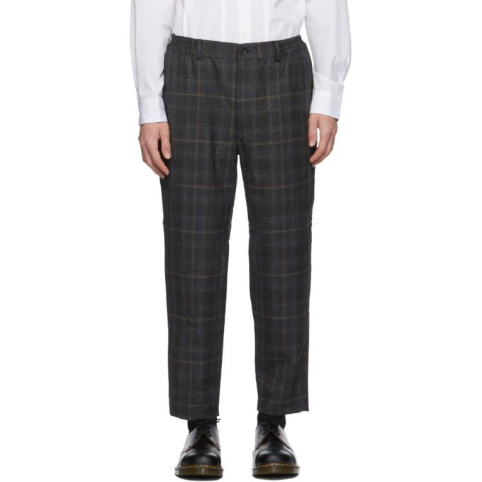 Comme des Garcons Homme Deux 灰色葛伦格纹羊毛长裤