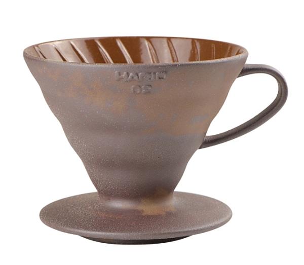 金時代書香咖啡 HARIO V60 老岩泥濾杯 1-4人份 VDCR-02-BR