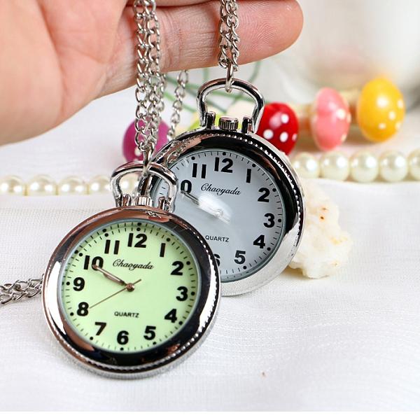 懷錶 大表盤老人夜光清晰大數字男女懷表鑰匙扣掛表學生考試用石英手表【快速出貨八折鉅惠】