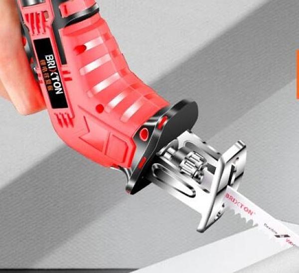 鋰電電鋸 電鋸家用小型手持充電式往復鋸馬刀鋸戶外電動鋸子手提伐木鋰【快速出貨八折下殺】