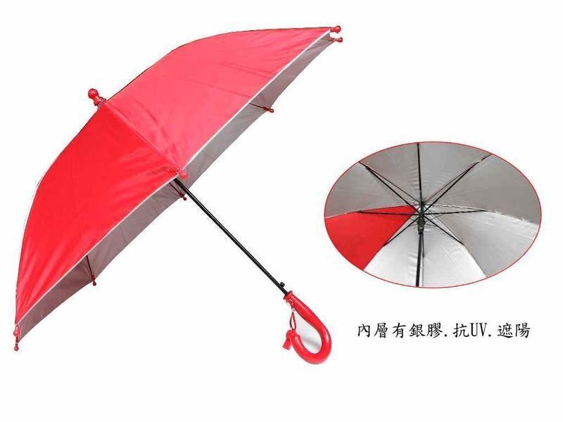自動兒童雨傘可愛動物 19英吋安全雨傘 迷你傘-附哨子