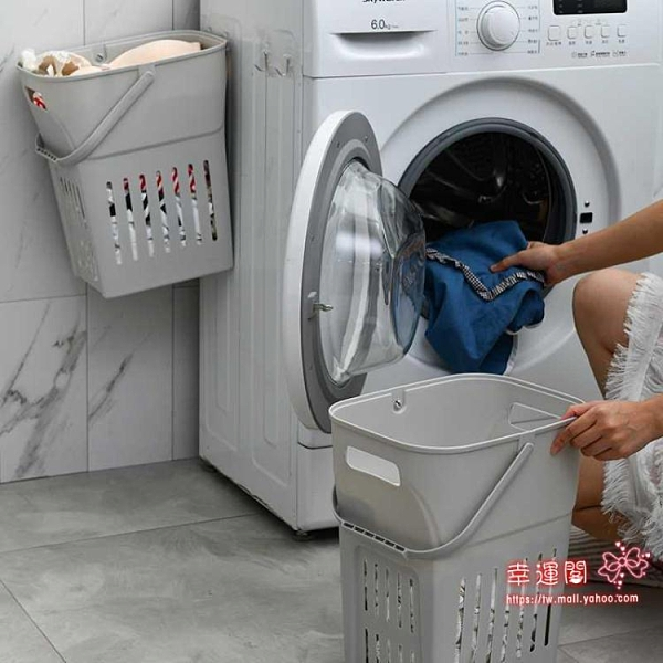 分類髒衣籃 寢室壁掛筐裝衣衣物分類衣服收納式髒衣洗衣簍衣婁衣籃桶框塑T
