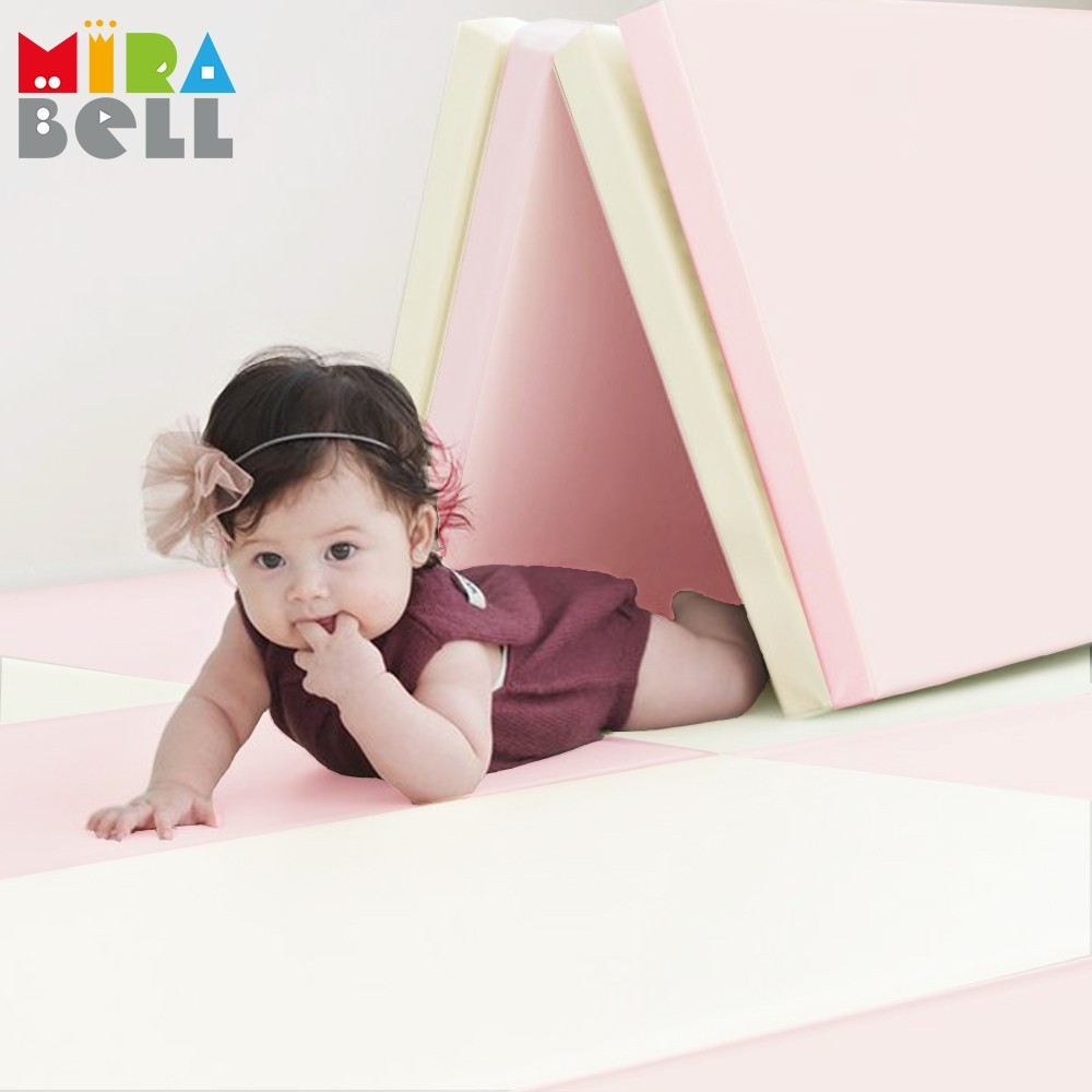 Mirabell - [韓國原廠]摺疊軟墊地墊遊戲地墊-粉色 (200 x 140 x 4 cm)