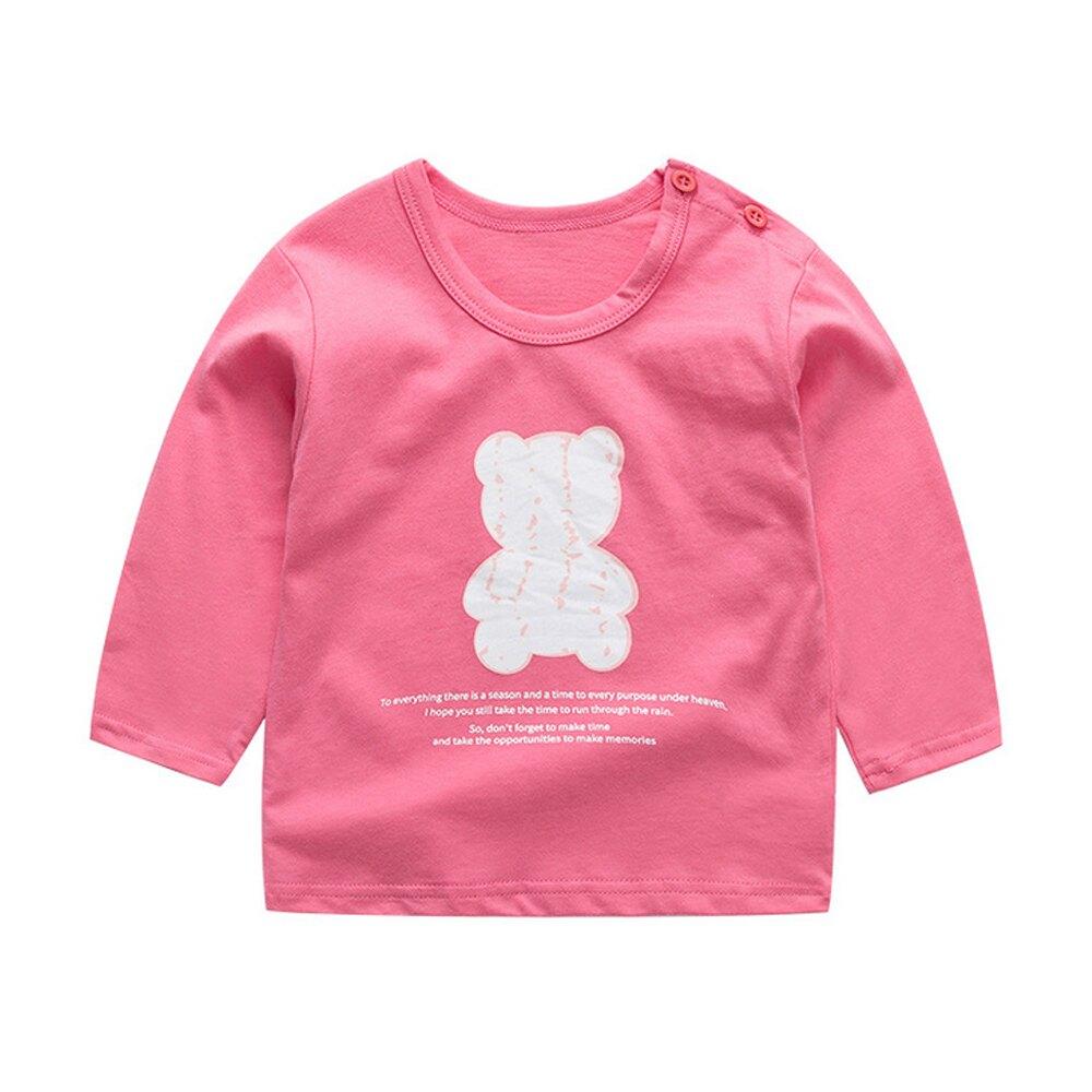 Baby童衣 女童純棉百搭長T長袖上衣 女寶寶長袖T恤 88613