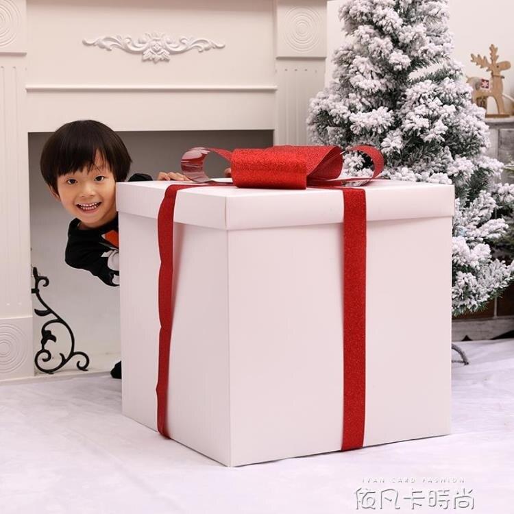 聖誕節裝飾品白色禮包禮盒擺件商場櫥窗美陳布置聖誕樹裝扮用品 嘻哈戶外 聖誕節交換禮物