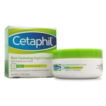 Cetaphil 超滋潤保濕晚霜 (玻尿酸 無香 ) 1.7oz / 48g 新商品 加拿大製造