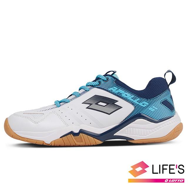 【LOTTO】 童鞋 阿波羅 II 羽球鞋(白藍)
