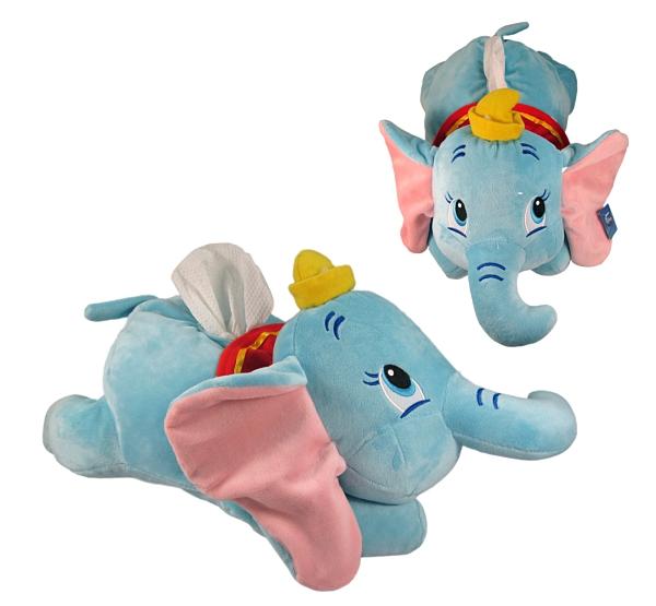 【卡漫城】 小飛象 面紙套 趴姿 ㊣版 絨毛 娃娃 面紙盒 桌上型 玩偶 抱枕 裝飾 Dumbo 大象造型
