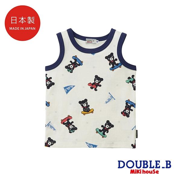 DOUBLE_B 日本製 黑熊衝浪滑板背心