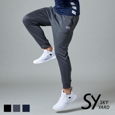 【SKY YARD 天空花園】彈性運動休閒束口褲-灰色