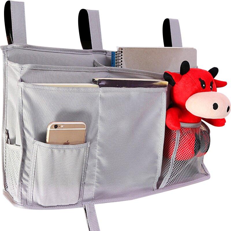 床邊掛袋 學生宿舍床邊袋牛津布收納掛袋寢室置物袋兒童床頭掛袋尿布儲物袋【MJ1251】