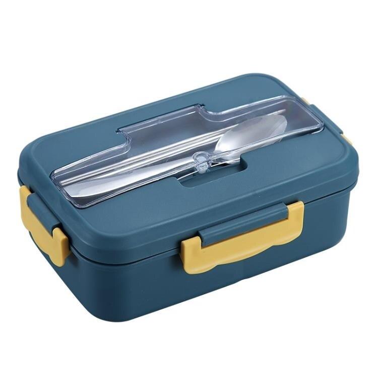 分隔型學生飯盒上班族可微波爐加熱小麥秸稈便當盒分格餐盒套裝