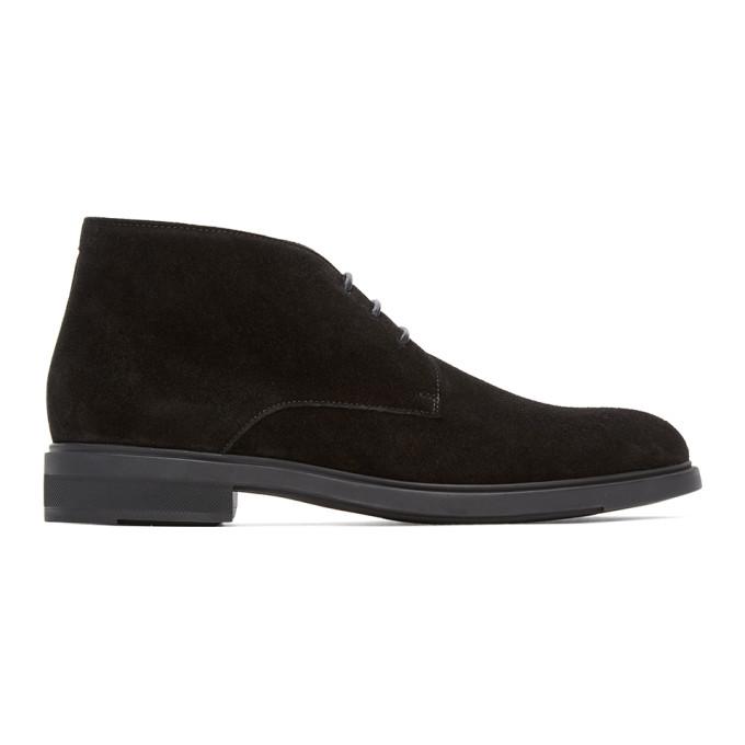 BOSS 黑色 Firstclass 沙漠靴