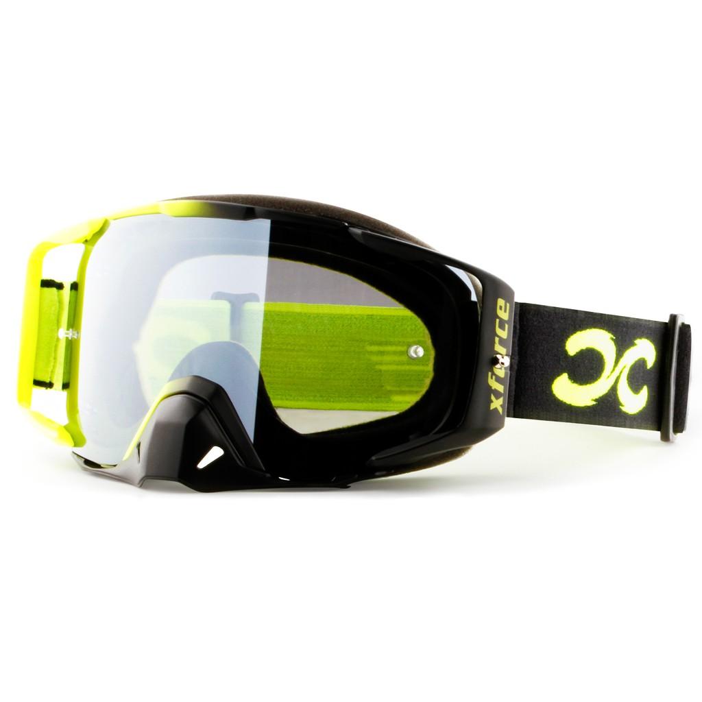 【XFORCE】摩托車/腳踏車專業越野護目鏡-大刺客XL2.0-螢光黃/黑 越野風鏡/騎士安全裝備/GOGGLES