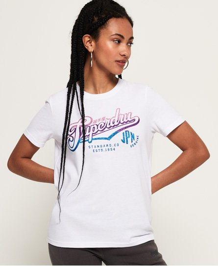 Superdry Standard Co Glitter T-Shirt
