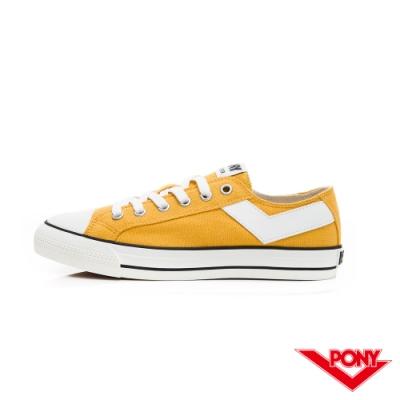 【PONY】Shooter系列百搭復古經典帆布鞋 休閒鞋 情侶鞋 男鞋 黃色