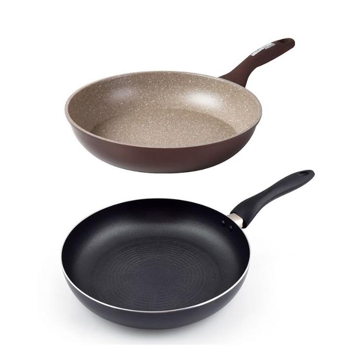 【韓國 CHEFWAY】 LAETA 不沾煎鍋-28cm + 磨石不沾煎鍋-26cm《WUZ屋子》